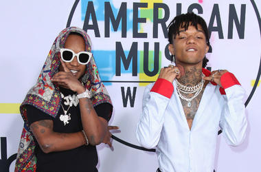 LOS ANGELES, CA - NOVEMBER 19: Rae Sremmurd at the 2017 American Music Awards at Microsoft Theater on November 19, 2017 in Los Angeles, California.