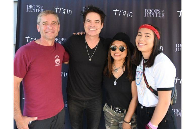 Backstage with Train