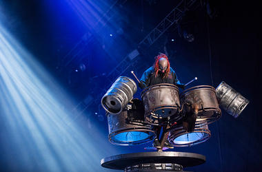 Shawn Crahan from Slipknot performs at 2015 Rock in Rio on September 25, 2015 in Rio de Janeiro, Brazil