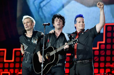Mike Dirnt, Billie Joe Armstrong and Tre Cool of Green Day perform onstage during the 2017 Global Citizen Festival