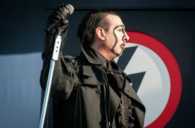Marilyn Manson performs live on stage on day 3 of Download Festival at Donington Park on June 10, 2018