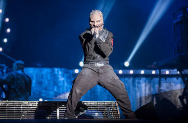 Corey Taylor from Slipknot performs at 2015 Rock in Rio on September 25, 2015 in Rio de Janeiro, Brazil