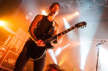 Matt Heafy of Trivium performs at O2 Academy