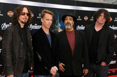Chris Cornell, Matt Cameron, Kim Thayil, Ben Shepherd in 2012
