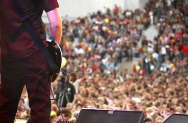 Guitarist onstage