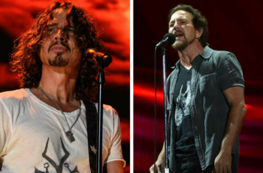Eddie Vedder and Chris Cornell performance collage