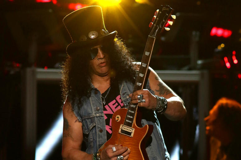 Slash of Guns N' Roses performs onstage during day 2 of the 2016 Coachella Valley Music & Arts Festival Weekend 2