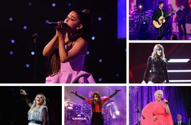 Ariana Grande, Shawn Mendes, Taylor Swift, P!nk, Camila Cabello, Kelly Clarkson