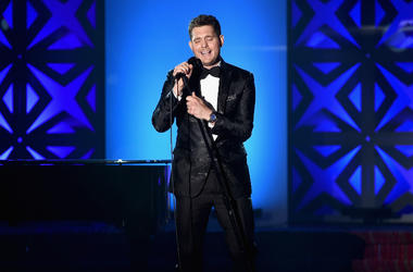 Michael Buble performs onstage at the Songwriters Hall Of Fame 46th Annual Induction And Awards