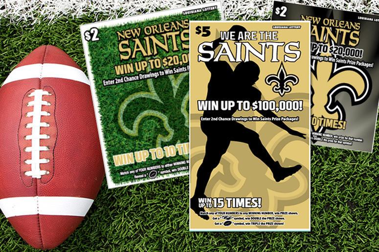 Win Saints Tickets and LA Lottery Saints Scratch-Offs