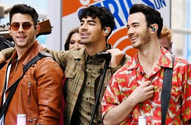 "The Jonas Brothers Perfom On NBC's ""Today"" at Rockefeller Plaza"