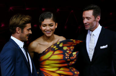 Zac Efron, Zendaya and Hugh Jackman attend the Australian premiere of The Greatest Showman at The Star on December 20, 2017 in Sydney, Australia