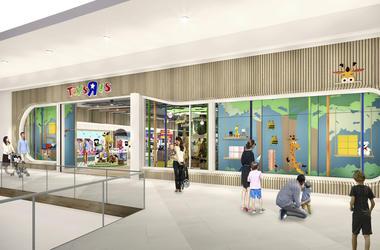 En esta imagen sin fecha proporcionada por ToysR Us, una representación de una nueva tienda de unos 603 metros cuadrados (6.500 pies cuadrados), una fracción de lo que tenían las jugueterías anteriores, de unos 2.780 metros cuadrados (30.000 pies cuadrado