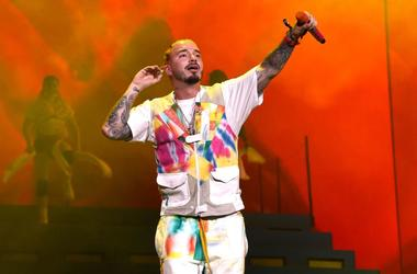 J Balvin performs at Coachella Stage during the 2019 Coachella Valley Music And Arts Festival on April 13, 2019 in Indio, California.