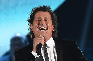 Carlos Vives sings on-stage