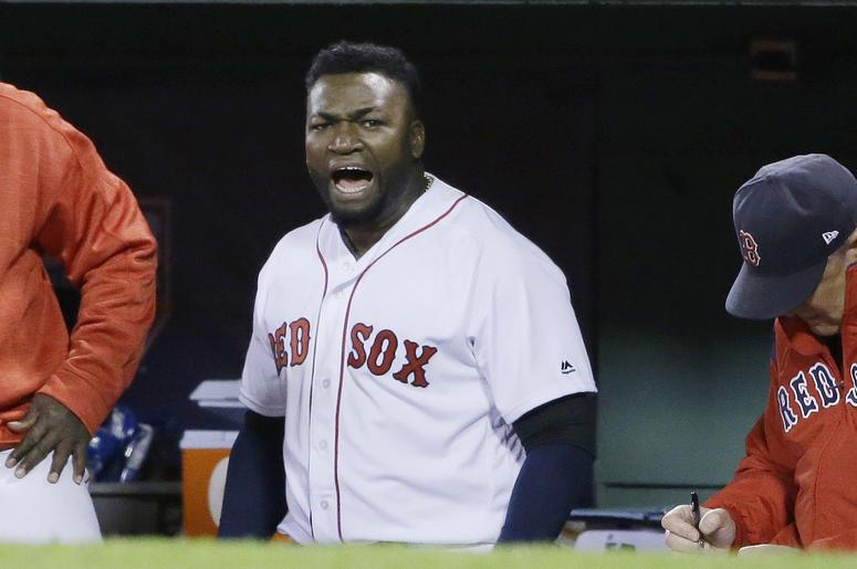 Big Papi David Ortiz in the dugout