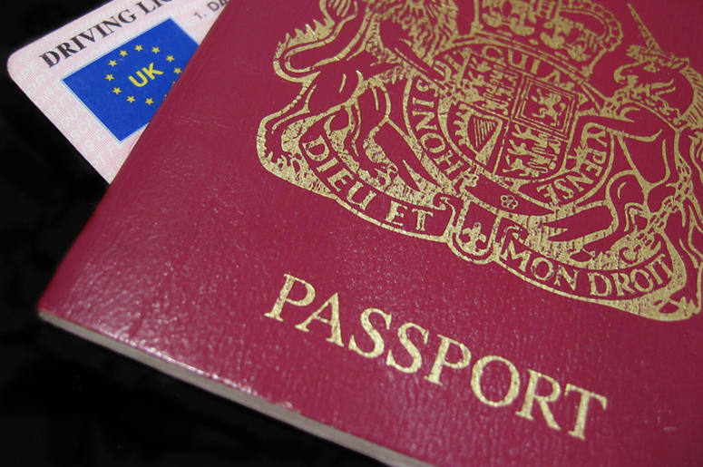 UK driver's license and passport