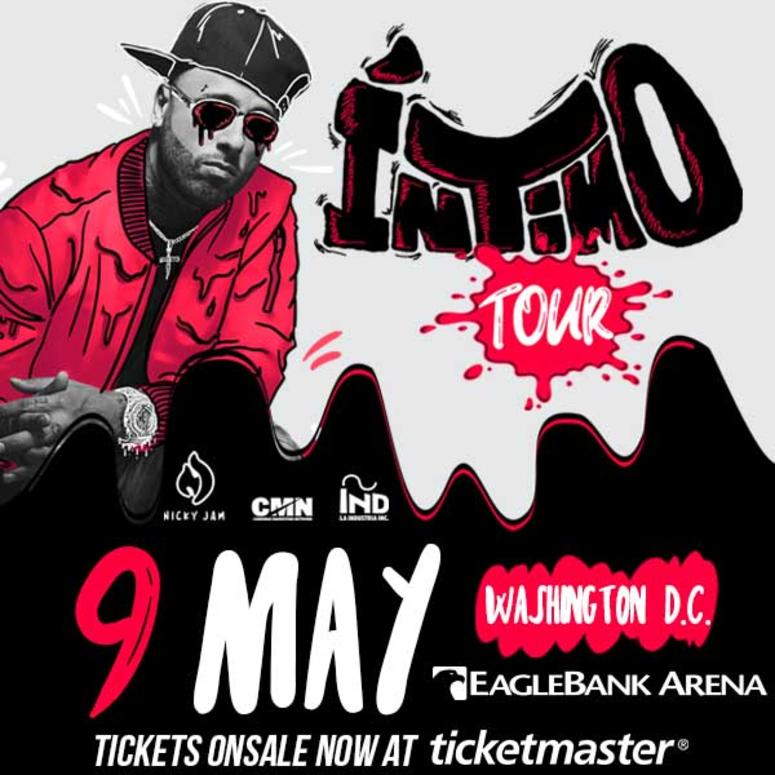 nicky jam, intimo tour, nicky jam intimo tour washington, washington dc eaglebank arena, tickets onsale now, reggaeton concert