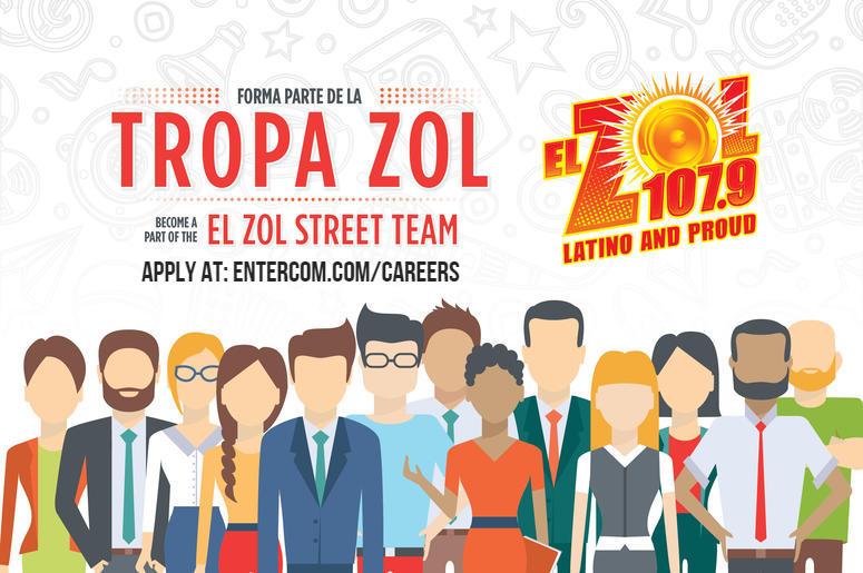 tropa zol, el zol, careers, applicaiton, street team, radio, jobs, media, entertainment, hiring