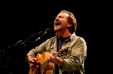 Eddie Vedder performs during the Innings Festival