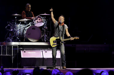 Recording artist Bruce Springsteen performs during The River Tour 2016 at the BB&T Center.