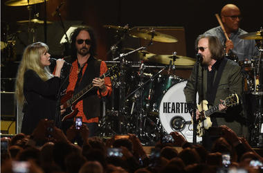 Tom Petty and Stevie Nicks at the 2017 MusiCares Person of the Year Dinner honoring Tom Petty at the Los Angeles Convention Center on February 10, 2017 in Los Angeles, California