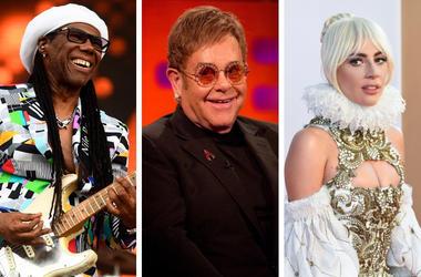 Nile Rodgers, Elton John and Lady Gaga