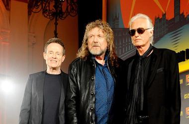 John Paul Jones, Robert Plant and Jimmy Page of Led Zeppelin