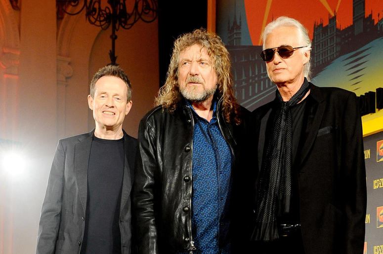 John Paul Jones, Robert Plant and Jimmy Page of Led Zeppelin,