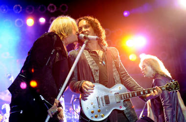 Def Leppard perform at the after party for the premiere of Warner Bros. Pictures' 'Rock Of Ages'