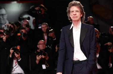 "Mick Jagger walks the red carpet ahead of the ""The Burnt Orange Heresy"" during the 76th Venice Film Festival at Sala Grande on September 07, 2019 in Venice, Italy."