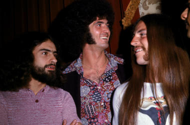Grand Funk Railroad, (Left to right): Mel Schacher, Don Brewer, and Mark Farner, 1970s