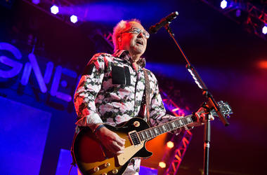 Mick Jones of the group Foreigner performs