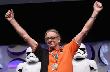 Actor Peter Mayhew speaks onstage during Star Wars Celebration 2015 on April 16, 2015 in Anaheim, California.