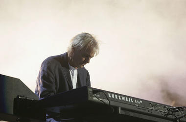"Musician Richard Wright from the band Pink Floyd performs on stage at ""Live 8 London"" in Hyde Park on July 2, 2005 in London, England. The free concert is one of ten simultaneous international gigs including Philadelphia, Berlin, Rome, Paris, Barrie, Toky"