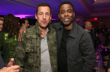 """Adam Sandler (L) and Chris Rock attend the afterparty for the World Premiere of the Netflix film """"The Week Of"""" at Tavern on the Green on April 23, 2018 in New York City."""