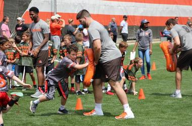 Browns youth football camp
