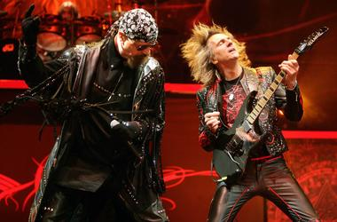 udas Priest with guitarist Glenn Tipton (right) and singer Rob Halford (left)