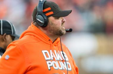 Cleveland Browns offensive coordinator Freddie Kitchens looks on during the first quarter against the Cincinnati Bengals at FirstEnergy Stadium on December 23, 2018 in Cleveland, Ohio.