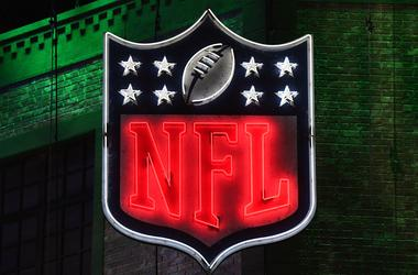neon NFL shield logo