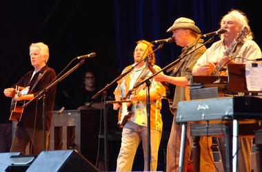 Graham Nash, Steven Stills, Neil Young and David Crosby (left to right)