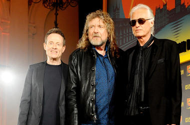 John Paul Jones, Robert Plant and Jimmy Page of Led Zepplin