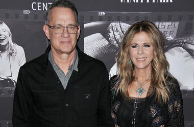 Tom Hanks and Rita Wilson arrives at the JONI 75: A Birthday Celebration held at the Dorothy Chandler Pavilion in Los Ange;e, CA Wednesday, November 7, 2018.