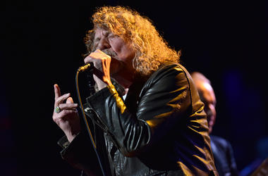 Robert Plant performs during the 3rd Annual LOVE ROCKS NYC concert at the Beacon Theatre in New York, NY, March 7, 2019.