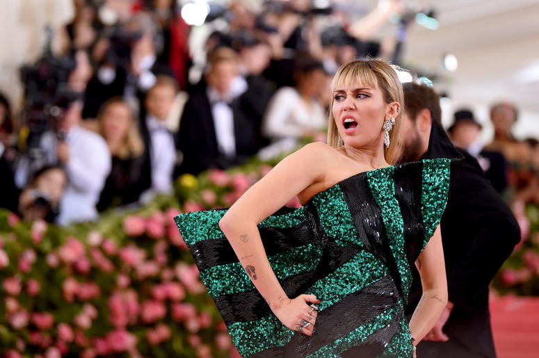 Miley Cyrus attends The 2019 Met Gala