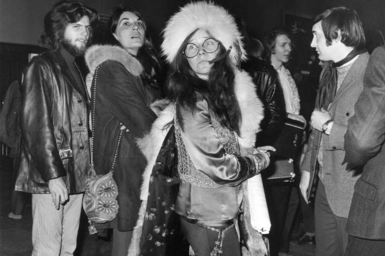Janis Joplin (1943 - 1970), formerly vocalist with the group Big Brother And The Holding Company