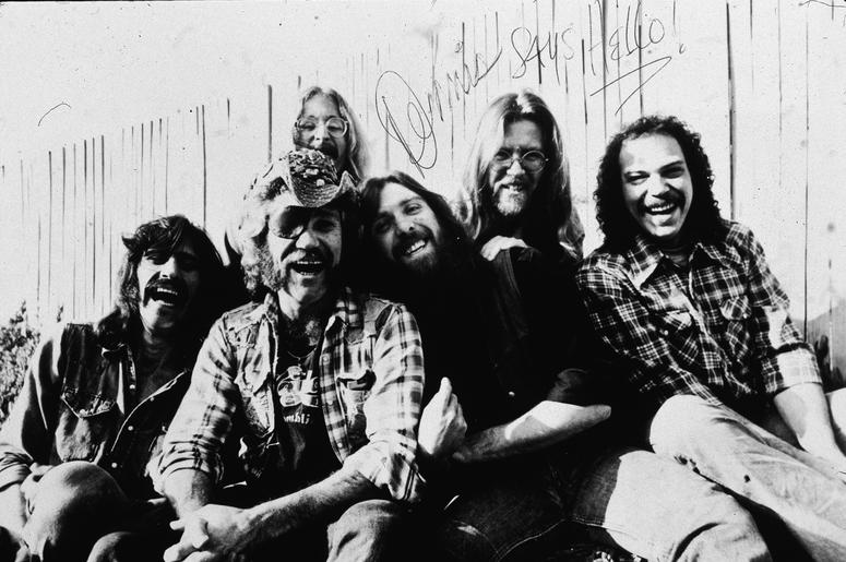 Dr. Hook: (L-R) Bill Francis, Ray Sawyer, Rik Elswit, Dennis Locorriere, Jance Garfat, and John Walters, 1979.