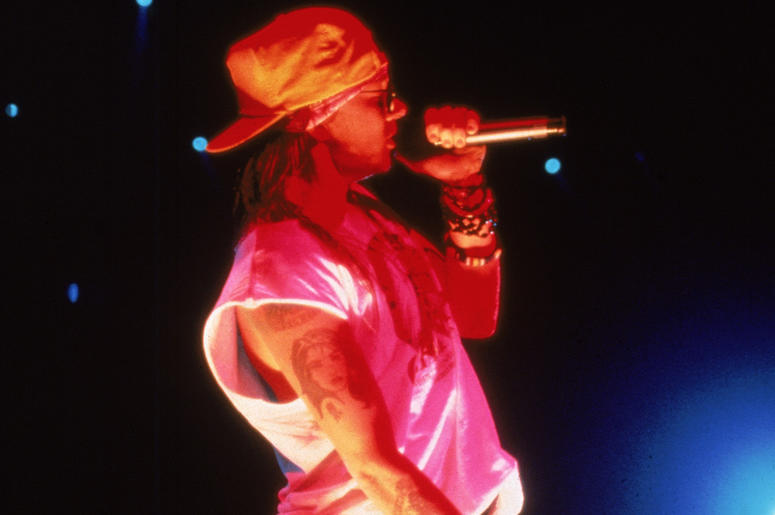 Axl Rose of the band Guns N' Roses