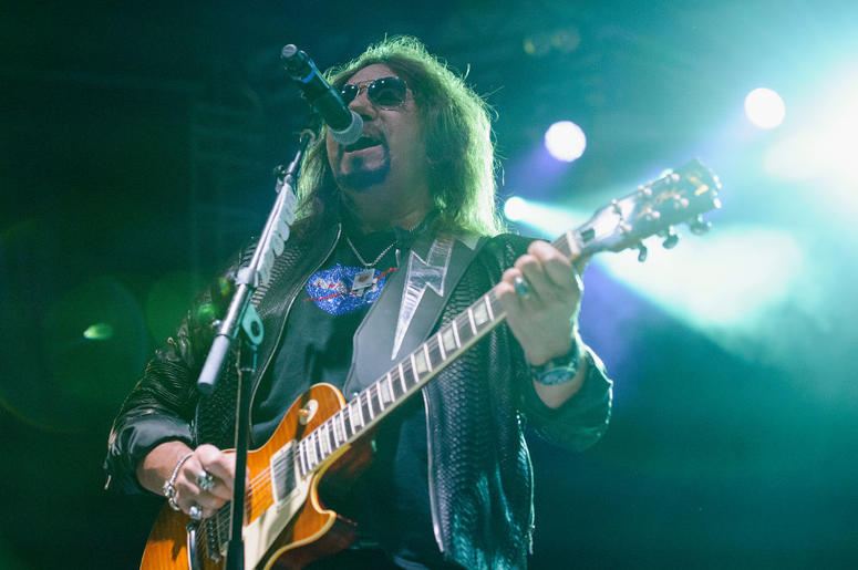 Ace Frehley preforms at The Children Matter Benefit Concert Featuring Gene Simmons, Ace Frehley, Don Felder And Cheap Trick on September 2, 2017 at CHS Field Stadium in St Paul, Minnesota.