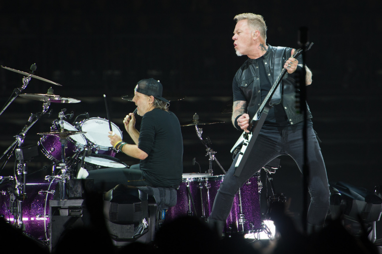 James Hetfield and Lars Ulrich